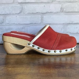 Somethin' Else By Skechers Wooden Clogs Mules